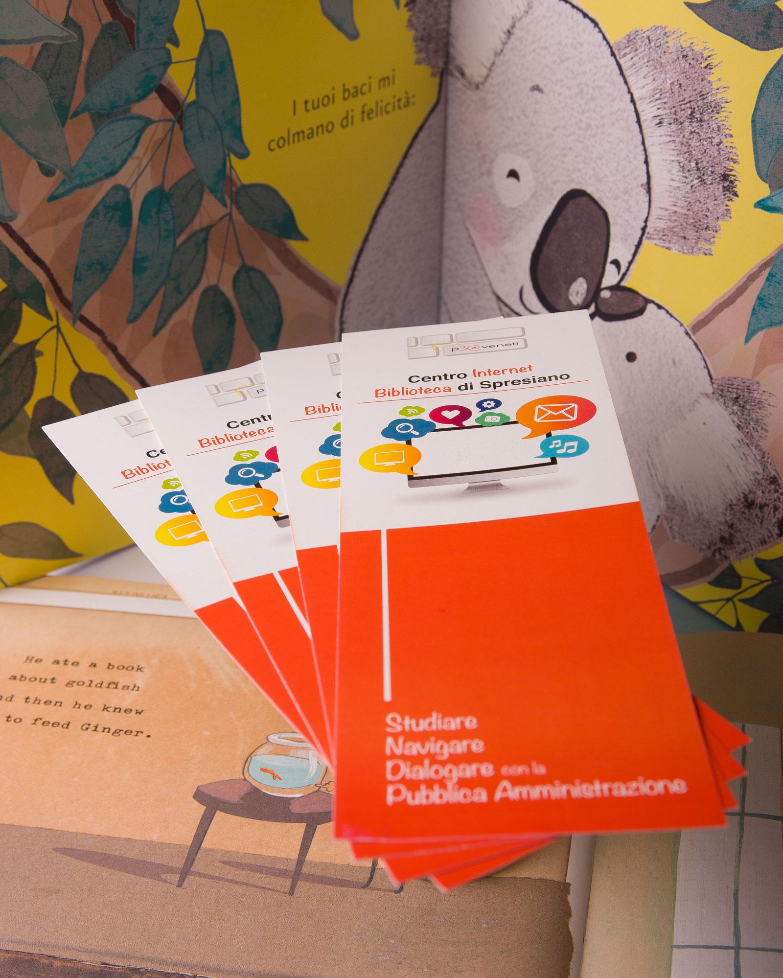 Graphic design: segnalibri personalizzati per la biblioteca di Spresiano